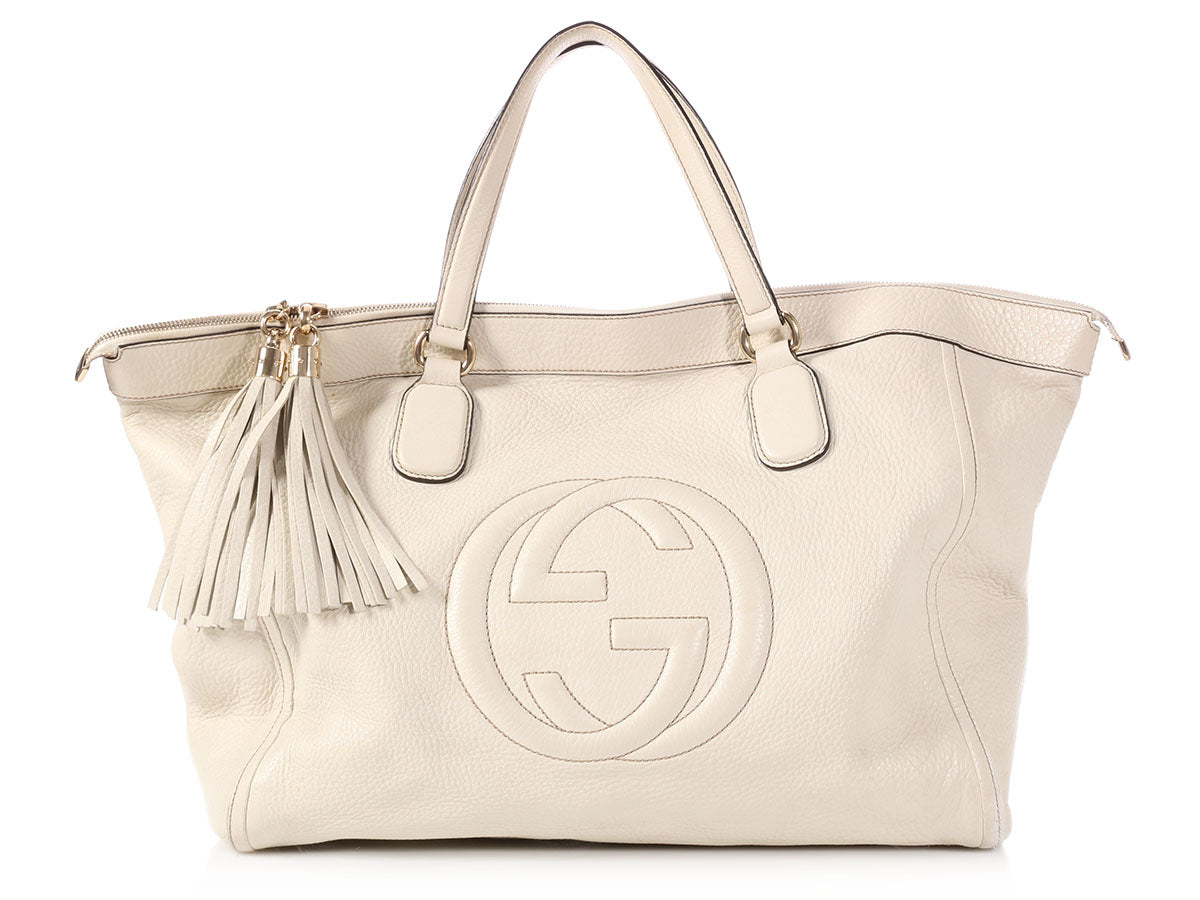 Gucci Large White Soho Tote