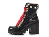 Gucci Black Leather Lugged Ankle Boots