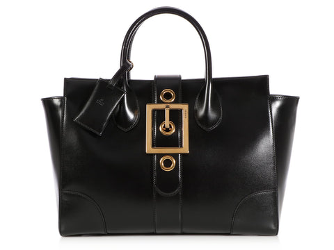 Gucci Black Lady Buckle Top Handle Bag