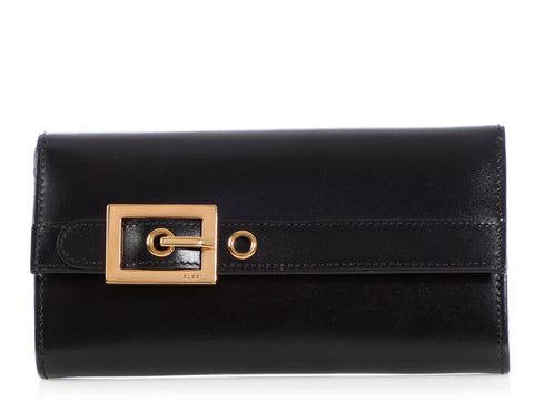 Gucci Black Lady Buckle Wallet