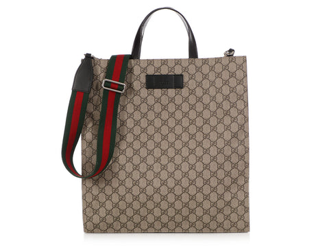 Gucci Gray Soft GG Supreme Tote