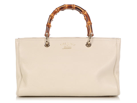 Gucci Ivory Exclusive Bamboo Shopper
