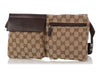 Gucci Brown Monogram Double Belt Bag