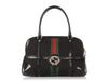 Gucci Black Monogram Reins Bag