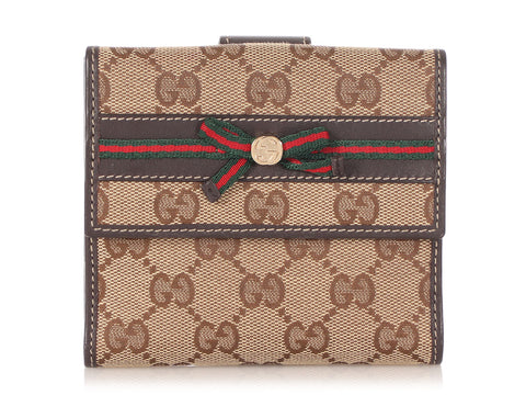Gucci GG Canvas Mayfair Compact Wallet