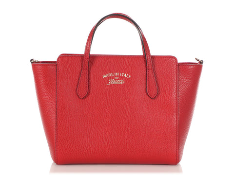 Gucci Small Red Swing Tote
