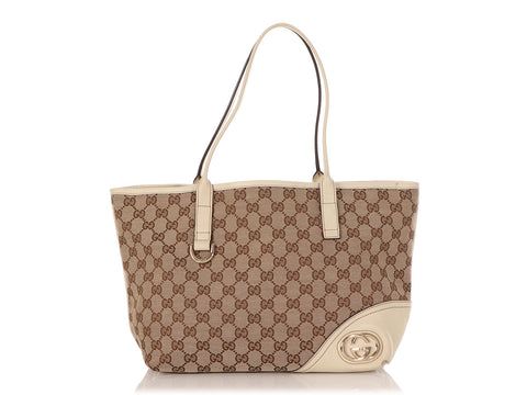 Gucci Brown Monogram Canvas New Britt Tote