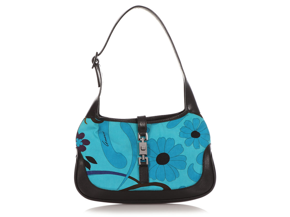Gucci Small Blue Floral Jackie Hobo