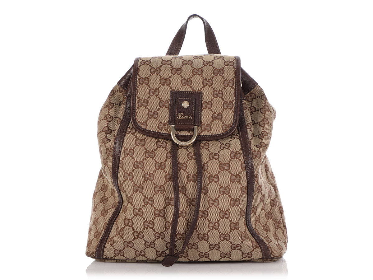 Gucci Brown GG Canvas Abbey Backpack