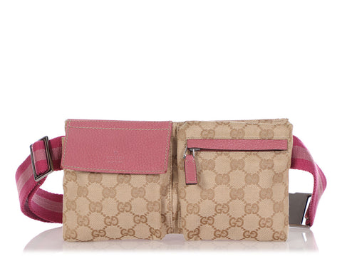 Gucci Pink GG Canvas Waist Bag