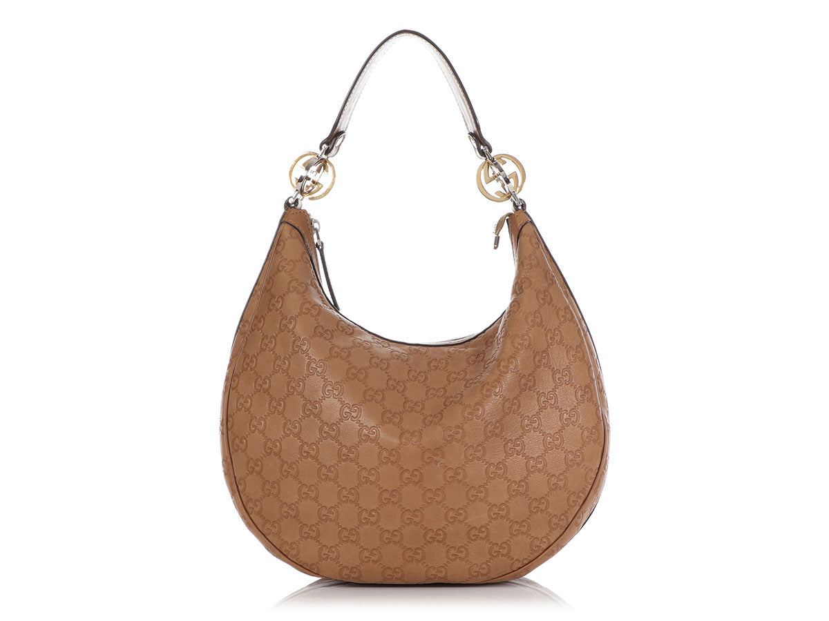 Gucci Brown Guccissima Twins Hobo