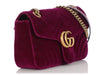 Gucci Small Rubin Velvet Matelassé GG Marmont Shoulder Bag