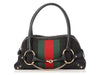 Gucci Black GG Canvas Horsebit Web Bag
