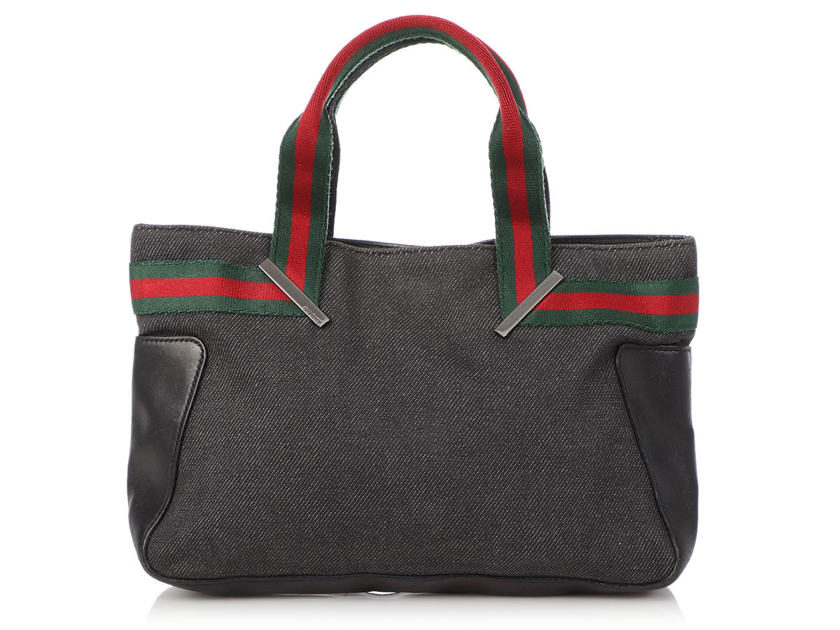 Gucci Mini Denim Web Tote