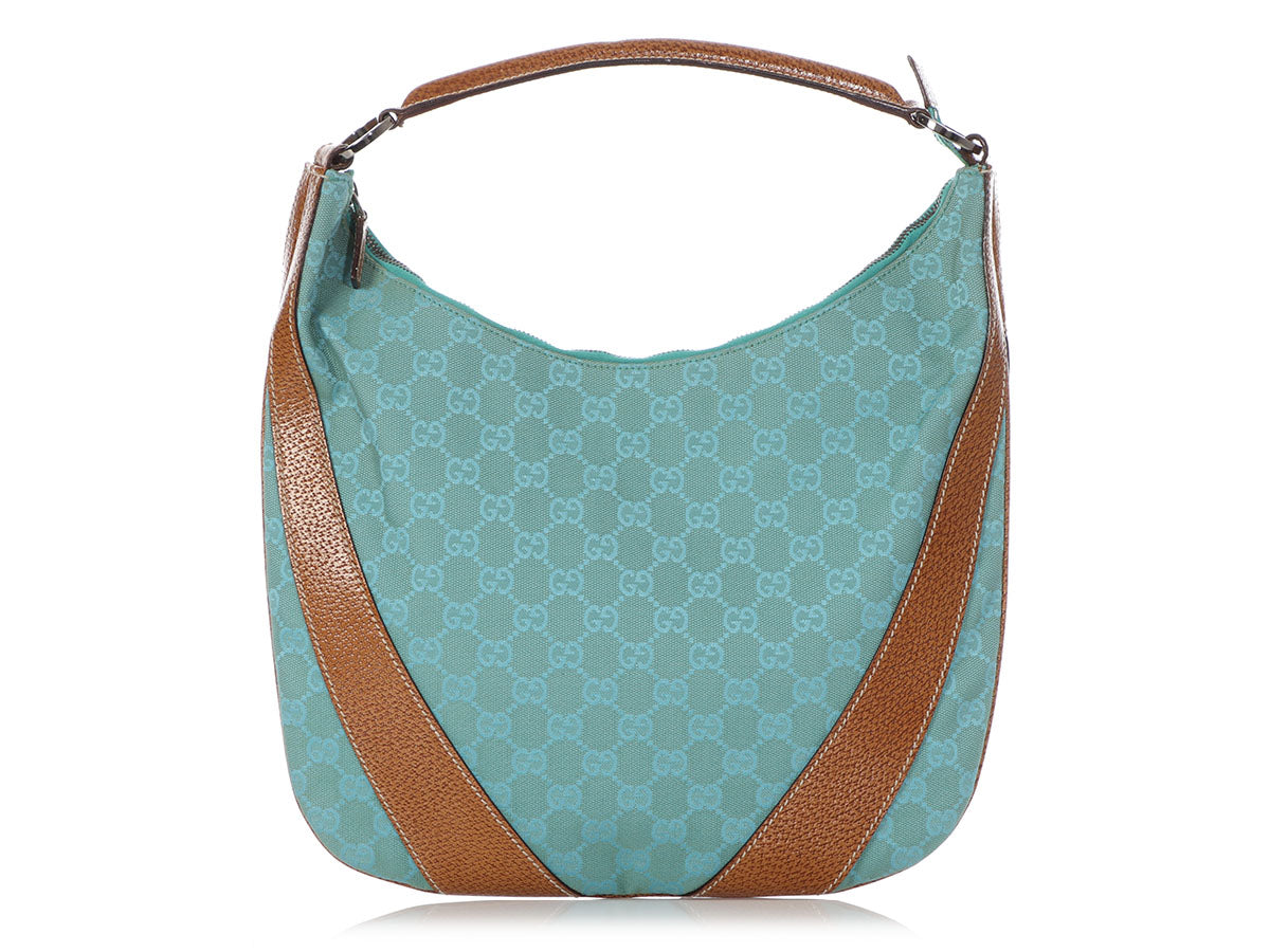 Gucci Teal GG Canvas Hobo