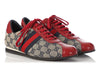 Gucci Red and Navy Canvas Web Sneakers