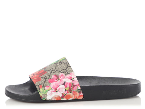 Gucci GG Blooms Supreme Pursuit Pool Slides
