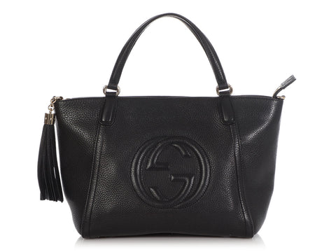 Gucci Small Black Soho Tote