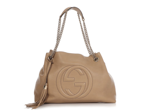 Gucci Medium Cream Soho Chain Tote