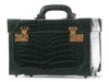 Gucci Green Alligator Train Case