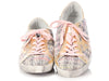 Golden Goose Pink Tweed Superstar Low Top Sneakers
