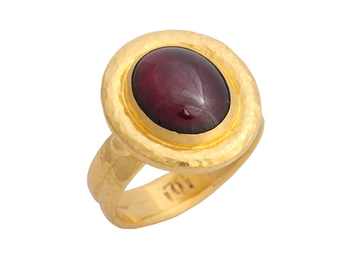 Gurhan 24K Yellow Gold Cabochon Garnet Ring