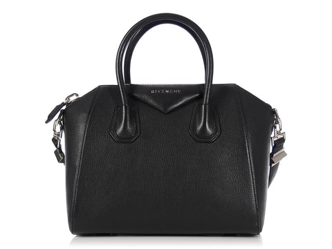 Givenchy Small Black Sugar Goatskin Antigona