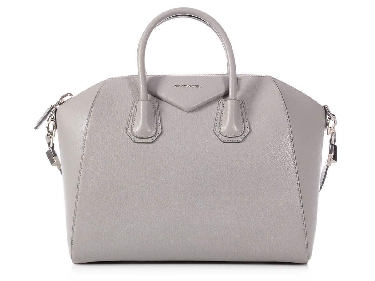 Givenchy Medium Gray Calfskin Antigona