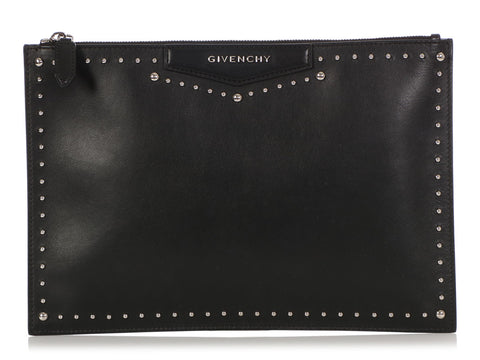 Givenchy Medium Black Studded Antigona Pouch