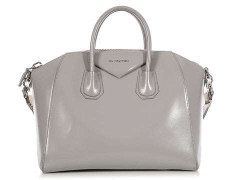 Givenchy Medium Gray Shiny Lord Antigona