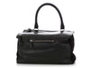 Givenchy Medium Black Crocodile-Stamped Patent, Leather, and Suede Pandora