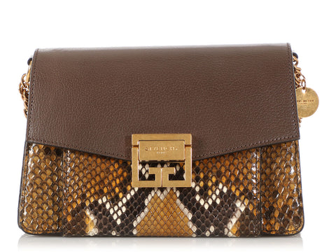 Givenchy Brown Python GV3 Bag