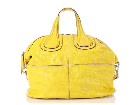 Givenchy Small Yellow Distressed Patent Nightingale