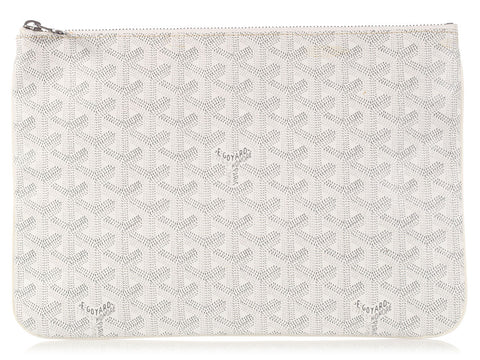 Goyard White Senat MM