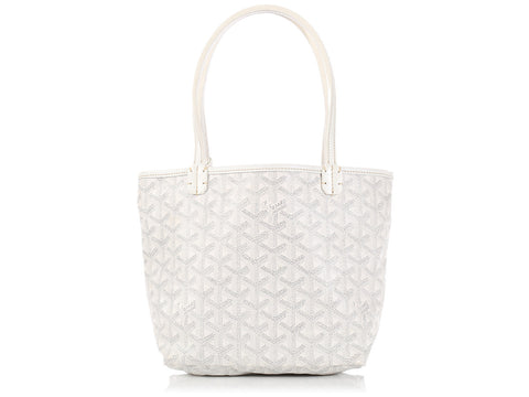 Goyard White St. Louis Junior Tote