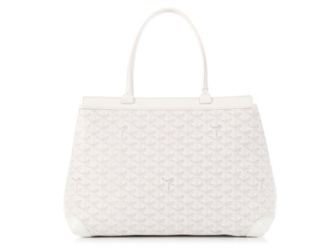 Goyard White Bellechasse Tote