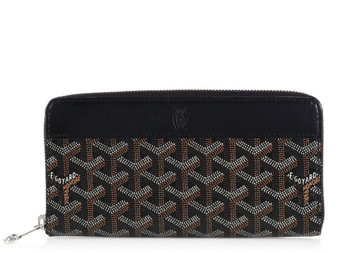 Goyard Black APM Zipped Wallet GM