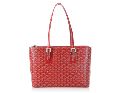 Goyard Red Okinawa Tote PM