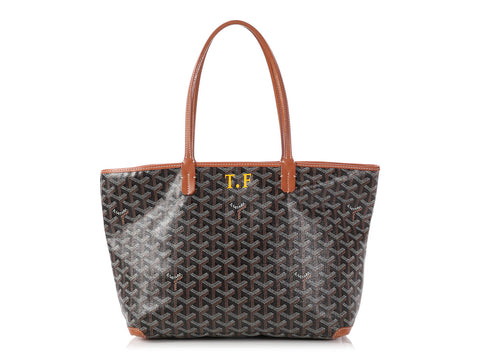 Goyard Black and Brown Artois Tote PM