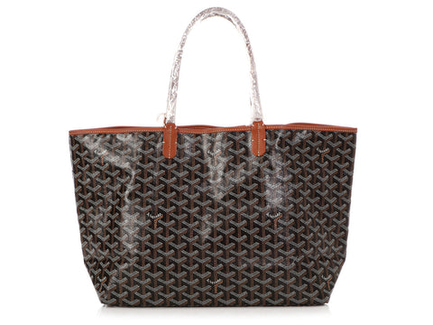 Goyard Black and Tan Saint Louis Tote PM