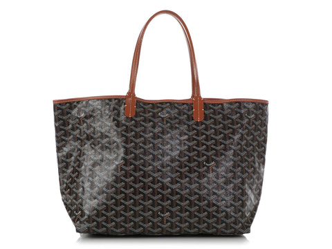 Goyard Black and Brown Saint-Louis PM
