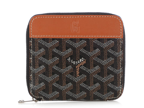 Goyard Black and Tan Matignon Wallet PM
