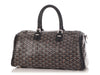 Goyard Black Croisière 35 with Leather Strap