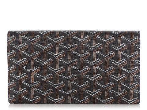 Goyard Black Monogram Richelieu Wallet
