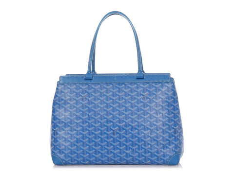 Goyard Blue Bellechasse Tote PM