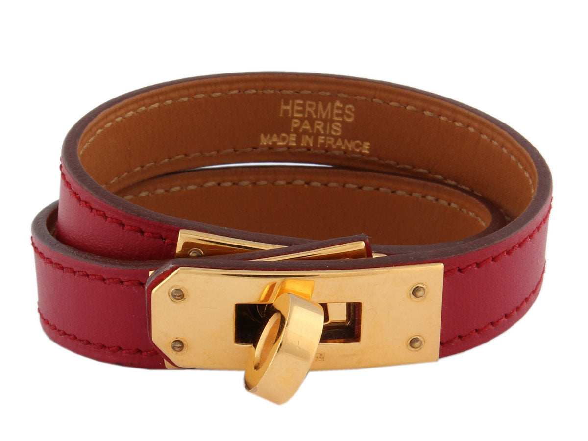 Hermès Red Double Tour Bracelet