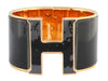 Hermès Extra Wide Black on Black Clic H Bracelet PM