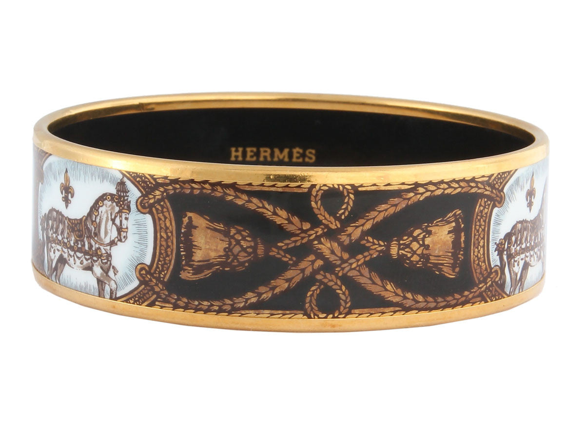 Hermès Wide Grand Apparat Enamel Bracelet