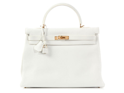 Hermès White Kelly 35