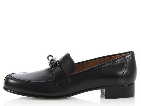 Hermès Black Jules Loafers